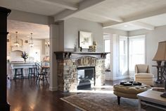 2012 VHBA - Winter Wonderland of Homes - traditional - family room - other metro - by Bradd W. Syring LLC - Custom Homes