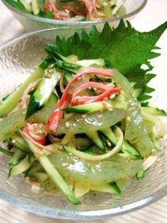 刺身こんにゃくときゅうりのサラダ レシピ・作り方 by YAMAT☆|楽天レシピ