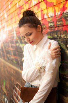 #white#shirt#rose#bracelet#her#story#design
