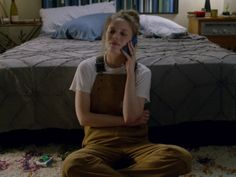 Picture of Gillian Jacobs Mickey Wearing Overalls