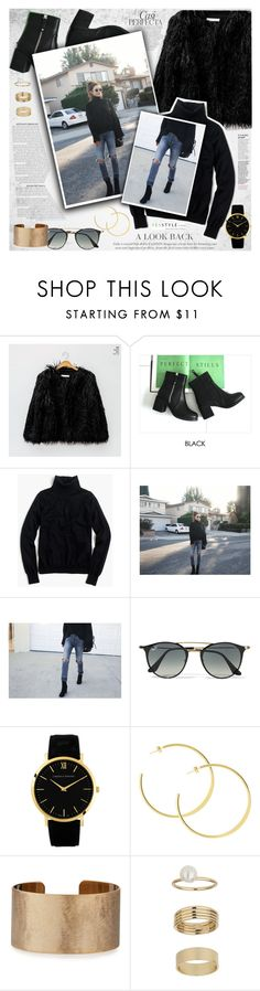 """""""YesStyle - 10% off coupon"""" by vanjazivadinovic ❤ liked on Polyvore featuring Whiteley, chuu, J.Crew, Ray-Ban, Panacea, Miss Selfridge, Winter and yesstyle"""