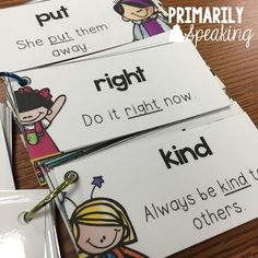 Practicing sight words in context..Freebie included in post :)
