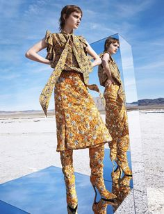 Tendências de luxo no Deserto: Harper's Bazaar US agosto 2016