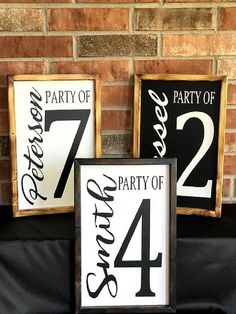 diy wall decor Handcrafted, Party of, Numbered Wall Decor with Wood Custom Rustic Finish Frame is perfect alone or on a Gallery Wall or in a Grouping. This Popular Wall Decor is availab Diy Wood Projects, Wood Crafts, Cardboard Crafts, Decor Crafts, Woodworking Projects, Woodworking Garage, Do It Yourself Inspiration, Inspiration Wall, Farmhouse Side Table
