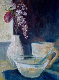 """Daily Paintworks - """"Breakfast"""" by Maggie Flatley"""
