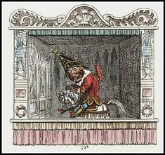 Punch and Judy: Britain's National Puppets--they go WAY back. This image is from 1827 and is by Cruikshank.