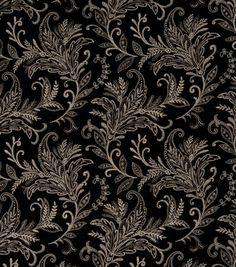 Home Decor Print Fabric-SMC Designs Palm Tree / Onyx