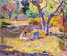 Girls among Olive Trees by Henri Lebasque Hand Painted Oil Painting is part of Oil painting Girl - Henri Lebasque Girls among Olive Trees hand painted oil painting reproduction on canvas by artist Henri Matisse, Maurice De Vlaminck, Post Impressionism, Impressionist Paintings, Oil Painting Reproductions, French Art, Tree Art, Painting & Drawing, Drawings