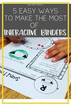 Interactive Binder Tips for any Speech - Language Pathologist! I love using interactive binders with all my students because they are an easy, low prep activity!