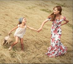 This will be Gracie Lou and me..me in my floral evening gown, she allowing me to dress her like a peasant girl, twirling together through a field of wheat where no chiggers bite our ankles and there are no such things as fire ant beds. Yes.