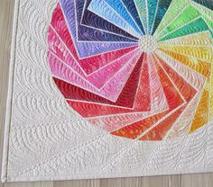 Color Me Rainbow -  raw edge applique quilt pattern  /Geta's Quilting Studio