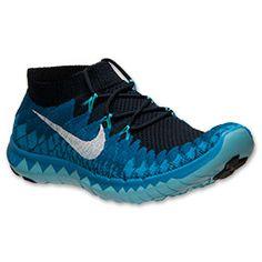 half off fc89c 78d61 Men s Nike Free Flyknit 3.0 Running Shoes   FinishLine.com   Dark Obsidian  White