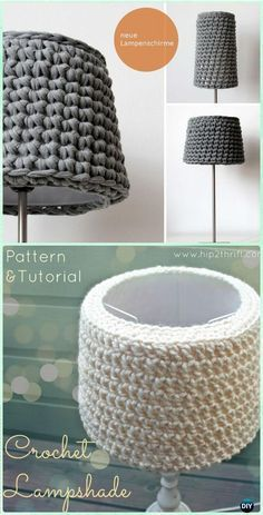 34 of the most creative diy lamps and lamp shades diy home decor crochet simple lampshade free pattern crochet lamp shade free patterns greentooth Gallery