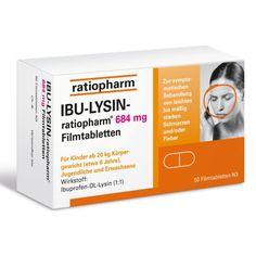 IBU LYSIN ratiopharm 684 mg Filmtabletten  - Hoch dosiert gegen Kopfschmerzen. Von ratiopharm. Ibuprofen-DL-Lysin in der höchstmöglichen rezeptfreien Dosierung!