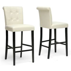 Baxton Studio Torrington Modern Bar Stool (set Of 2)