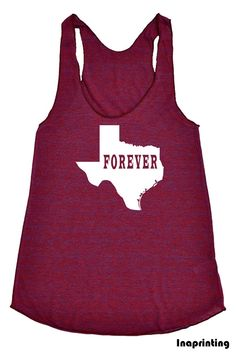 Texas State Tank Top Forever  Womens  American by Inaprinting, $19.00