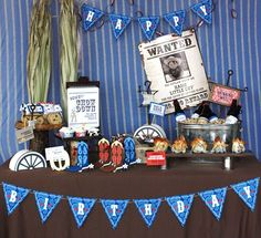 Welcome to our Vintage Western Cowboy Birthday Party Collection . We have so many fun treats and desserts to make your Cowboy. Cowboy Party, Cowboy Birthday Party, Boy Birthday Parties, Birthday Ideas, Cowboy Theme, Western Theme, 2nd Birthday, Little Monsters, Wild West Party