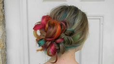 Hidden Rainbow Hair by @myefate  Used Rusk Deepshine direct Updo
