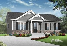 Discover the plan 3137 - Miranda from the Drummond House Plans house collection. Economical Modern Rustic Starter home design with open floor plan concept. Total living area of 864 sqft. Rustic House Plans, Cottage House Plans, Small House Plans, Cottage Homes, House Floor Plans, Drummond House Plans, Modern Rustic Homes, Starter Home, Ranch Style Homes