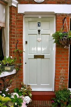 Pale Powder  front door (Farrow and ball)  - - -- - love: