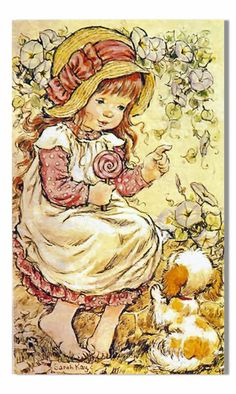 Sarah Kay Collezione Intercards No. Sarah Key, Mary May, Vintage Drawing, Decoupage Vintage, Sweet Pic, Holly Hobbie, Cute Illustration, Illustrations, Baby Elephant