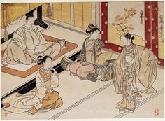 Shizuka Gozen Dancing for Yoritomo  頼朝の前で舞う静御前 Japanese Edo period 1766 (Meiwa 3) Artist Suzuki Harunobu (Japanese, 1725–1770)