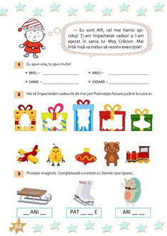 Romanian Language, Worksheets, Christmas Crafts, Crafts For Kids, Classroom, Teacher, Education, School, Logo