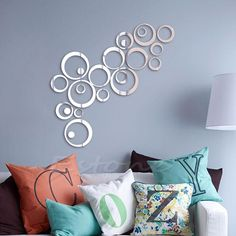 Fashion Circles Mirror Style Removable Decal Vinyl Art Wall Sticker Home Decor-in Wall Stickers from Home & Garden on Aliexpress.com   Alibaba Group