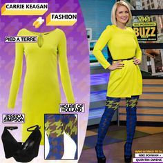 Similar Dress: Pied a Terre Long Sleeve Ponti Roma Dress in 'Lime'   Tights: Hound of Holland Houndstooth Tights Limited Edition   Similar Shoes: The Stacys by Jessica Simpson