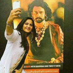 Devasena selfie with her Hubby Baahubali❤❤ Anushka Shetty Bahubali, Prabhas Actor, Prabhas And Anushka, Bahubali 2, Prabhas Pics, Super Movie, Name Wallpaper, Bollywood Cinema, Ganesha Art
