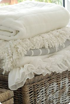 great shades and textures in bedding