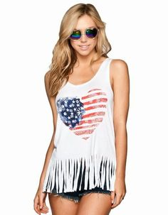 2ebc47196119 Are you in love with American flag print tops