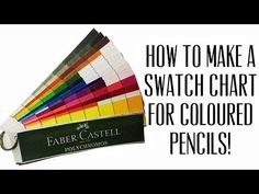 How to Make a Swatch Chart for Coloured Pencils | Tutorial - YouTube