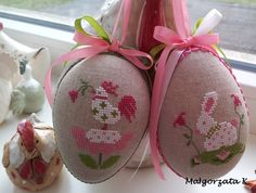 Easter eggs, easter ornaments, cross stitch, пасха, pasqua, pisanky, haftowane pisanki, handmade