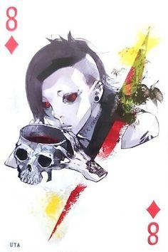 Uta ~ 8 of Diamonds ~ Tokyo Ghoul trump cards