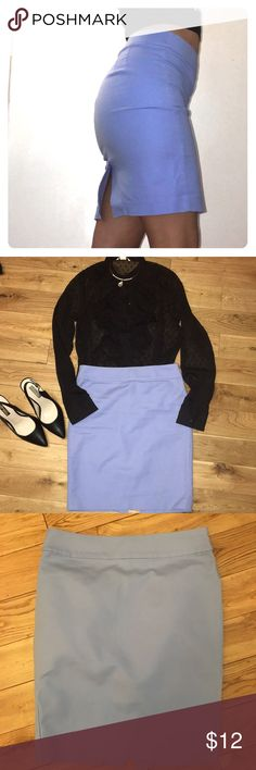 Forever 21 Skirt Size: Small Color: Baby Blue Cotton material Skirts Midi