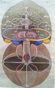 Hilma af Klint, Tree of Knowlegde on ArtStack #hilma-af-klint #art