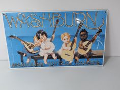Ande Rooney Washburn Mandolins Guitars Banjos Sign by krisfindings, $44.90