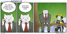 Running Late - The Adventures of Business Cat