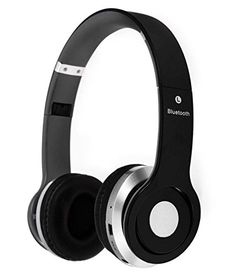 Micromax Canvas Devices Compatible Certified S450 Foldable On-ear Wireless Stereo Bluetooth Headphones Headset Supports MP3 FM & TF Card Reader (One Year Warranty)