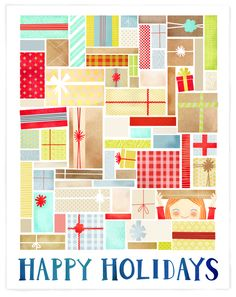 Hannah Alexander Christmas Card A cute way to use up scraps of paper for any occasion.