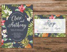 Hawaiian wedding invitations use some decorative accessories and make your own wedding invitation 17