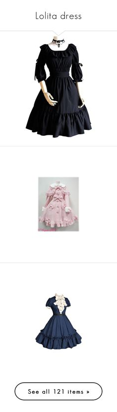 """""""Lolita dress"""" by cpfandomlover ❤ liked on Polyvore featuring dresses, chemise dress, victorian chemise, square neck dress, victorian dress, victorian day dress, lolita, angelic pretty, coats and blue"""