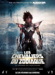 """""""Les Chevaliers du Zodiaque : La légende du Sanctuaire"""" : l'affiche du film d'animation en 3D 2015"""