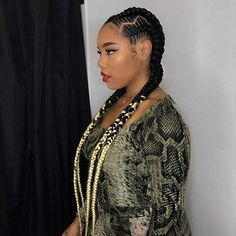 Most Beautiful Cornrow Braids That Turn HeadsOnline Information Guide and Tips Thick Cornrows Hairstyles, Cornrow Braid Styles, Long Cornrows, African Braids Styles, Chic Hairstyles, African Braids Hairstyles, Long Braids, Natural Braids, Natural Hair Styles