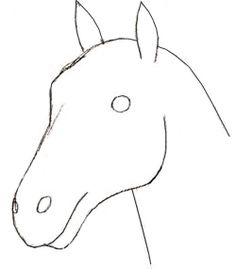 how to draw a horse head for kids   Free drawing instructions ...