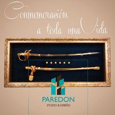 Méritos que puedes lucir para recordar a los que más quieres. #medalla #condecoracion #sables #montajesprofesionales #paredonestudio