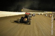 Views from the pace truck, 3rd Annual Gold Crown Midget Nationals, October 8, 2011.