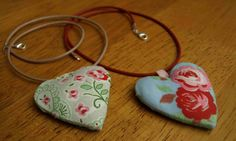 The Sew Happy Shop: Fabric jewellery; necklaces