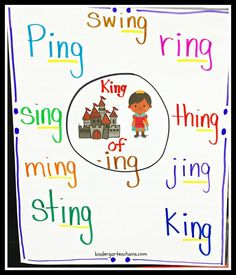 King of ING Anchor Chart - kindergartenchaos.com